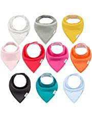 ALVABABY Bandana Drool Bibs For Drooling Teething Feeding Super Absorbent 100% Cotton For Boys and Girls Newborn