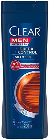 Shampoo Anticaspa Clear Men Queda Control 200 Ml, Clear