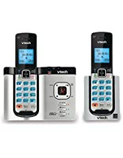 VTech DS6621-2 DECT 6.0 Expandable Cordless Phone with Bluetooth Connect to Cell and Answering System, Silver/Black with 2 Handsets
