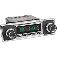 RetroSound HC-308-409-39-78 Hermosa Direct-Fit Radio for Classic Vehicle (Chrome Face and Chrome Buttons and Black/Chrome Faceplate)