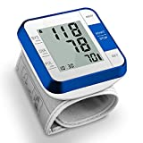 Blood Pressure Monitor, Wrist BP Monitors for Home, Accurate Automatic Heart Rate & BP Monitors, Compact Travel Friendly Box, LCD Display, Medium Wrist