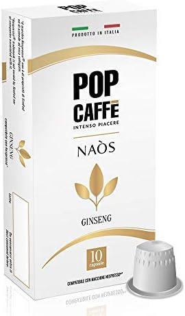 100 CAPSULE POP CAFFE' COMPATIBILI NESPRESSO GINSENG