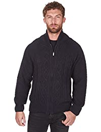 Urban Release Men's Zip Up Sweater Cardigan Cable Knit - Sizes M-XXL