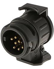 Prettyia 13 Pin to 7 Pin Twin Adapter Short Towing Power Socket