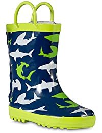Children's Rubber Rain Boots, Little Kids & Toddler, Boys & Girls Patterns