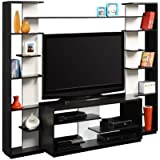 Altra Watson Home Entertainment Center with Reversible Back Panels, Black
