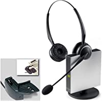 Jabra GN9125 Flex Duo Convertible Dual Earpiece Over the Head / Ear Wireless Headset for Deskphone with Jabra Lifter(GN1000) (Certified Refurbished)