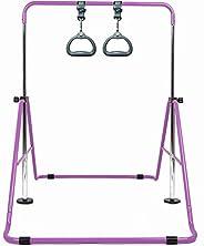 Gymnastics Bar Kids Home Grip Training Boys Girls Gift Set, Asymmetric Training bar Folding Adjustable Height
