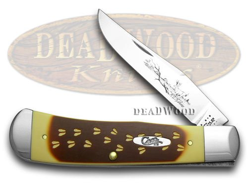 CASE XX Deer Tracks braun and Cream Delrin 1 300 Backpocket Knife Knives B00MJRDTJG     | Clearance Sale