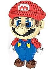 Super Mario Bros Mini Building Blocks leksaker, 3D pussel för barn, realistiskt spel modell för Dekorativa Collectible,Red mario