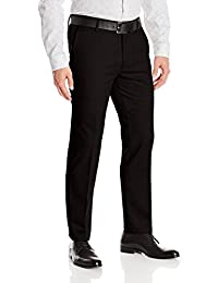 Dockers Men's Signature Khaki Slim Fit Flat Front Pant, Black/Stretch