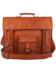 leather Messenger Bag by Ritzy   15 inch Laptop Messenger Bag -Crossbody Messenger Bag for everyday Business Handmade...