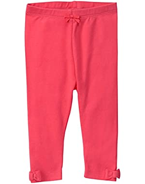 Baby Girls' Red Legging with Ankle Bows