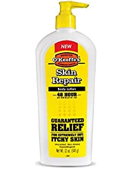 O'Keeffe's Skin Repair Body Lotion and Dry Skin Moisturizer, Pump Bottle, 12 ounce