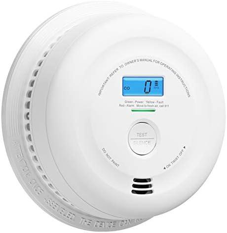 X-Sense 10-Year Battery Smoke and Carbon Monoxide Detector with LCD Display, Dual Sensor Smoke and CO Alarm Complies with UL 217 & UL 2034 Standards, Auto-Check, SC08