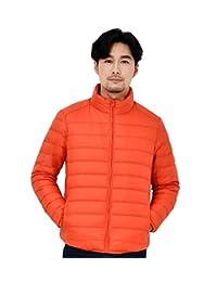 KUPARK Men's Lightweight Stand Collar Packable Down Jacket Winter Warm Outwear
