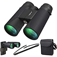 Kylietech 12x42 Binoculars for Adults, Compact HD Professional Binoculars for Bird Watching Travel Stargazing Hunting Concerts Sports-BAK4 Prism FMC Lens with Phone Mount Strap Carrying Bag