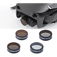 Aboom (Upgrade) Camera lens fitlers for Dji Mavic Air Accessories with Cleaning Cloths mavic air filter (CPL, ND4-CPL,ND8-CPL,ND16-CPL)
