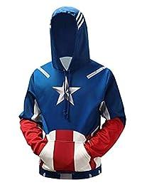 Ampparels Superhero Hoodies Men Hooded Sweatshirts Superhero 3D Print