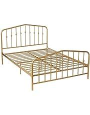 Novogratz Bushwick Metal Bed, Modern Design