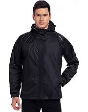 NICE WIN Tragbarer Front Zip Regenjacke-Taschenformat Atmungsaktiver Kapuzenpullover Regenmantel Poncho für Männer und Frauen