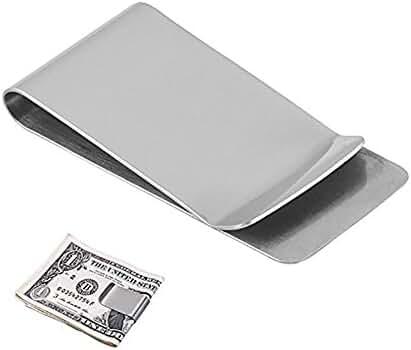Stainless Steel Money Clip Holder Slim , Silver