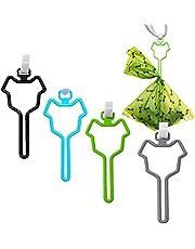 4 PCS Dog Poop Bag Holder, Waste Bag Holder with Touch Fasteners Attachment, Adjustable Waste Bag Carrier Fit Any Leash Poop Bag (Black & Blue & Green & Grey)