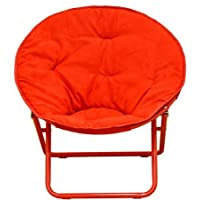 American Kids Solid Faux-Fur Saucer Chair (1, Red)