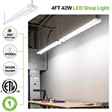 4 Pack 4FT Linkable LED Shop Light, Utility Shop