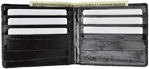 100% Genuine Eel Skin Bi-fold Mens Wallet #E705