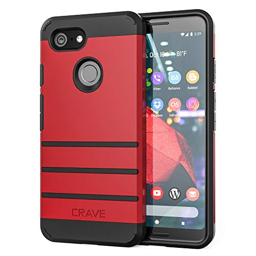 Pixel 3 Case, Crave Strong Guard Protection Series Case for Google Pixel 3 - Red