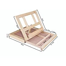 Children Natural Wood Table Easel Watercolor Painting