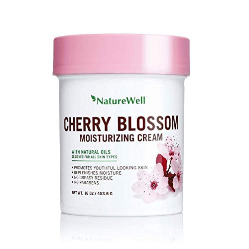 Nature Well Cherry Blossom Moisturizing Cream with Natural Oils, 16 oz