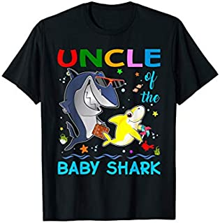 [Featured] Uncle Of The Baby Shark Birthday Gift For Mens Uncle Daddy in ALL styles | Size S - 5XL