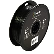 AMZ3D 1.75mm PLA 3D Printer Filament, Black, 1 Kg spool (2.2 lbs)