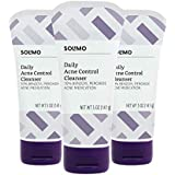 Amazon Brand - Solimo Daily Acne Control Cleanser, 5 Ounce (Pack of 3)