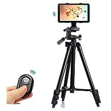 Professional Tripod Mount Holder+Camera Bluetooth Remote Shutter Controller for iPad Air 2 1/iPad 4 3 2-black
