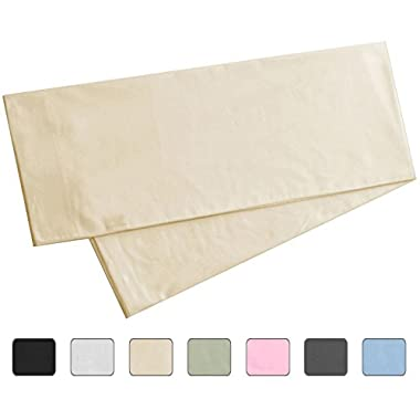 Body Pillowcase, 100% Cotton, 300 Thread Count, 21x60 Pillow Cover by American Pillowcase, Fits 20 x 54, Ivory
