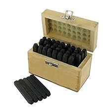 Silverline Tools 273197 Juego de sellos de letras y números, 36 piezas, negro