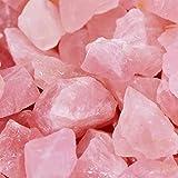 UFEEL 1 lb Bulk Rough Rose Quartz Crystal for