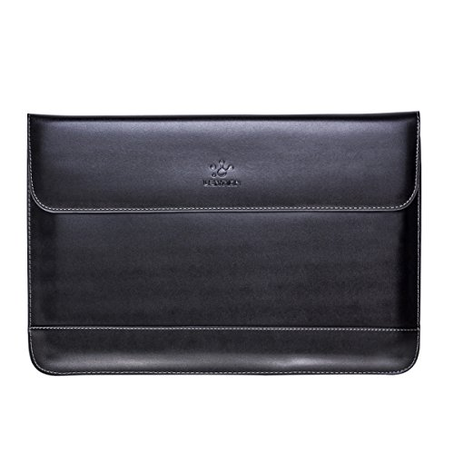LENTION Split Leather Sleeve Case for 11 12 13 15