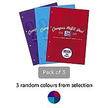 Oxford Campus A4 300 páginas bloc de recambio – colores surtidos, 3 unidades