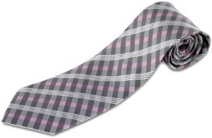 100% Silk Tie with Plaid Pattern (available in XL and XXL)