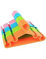 """sfesnid Buisvormige kinderhangers voor kinderen, baby peuter met plastic hanger riemen 10.5 """"X6.1"""""""