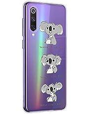 Oihxse Compatible con Xiaomi Mi 9 Pro 5G Funda Cristal Silicona TPU Suave Ultra-Delgado Protector Estuche Creativa Patrón Protector Anti-Choque Carcasa Cover(Pereza A3)