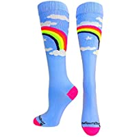 MadSportsStuff Neon Rainbow Clouds Over the Calf Athletic...