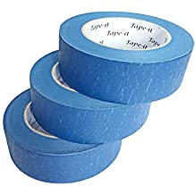"""Blue Painter's Tape 3 Pack (2 Inch) 1.88""""x 60 Yards Premium Quality Masking Tape Aids No Paint Bleeds, Multi-Purpose, Up to 14 Days UV and Heat Resistant, Leaves No Residue Behind,180 Total Yards"""