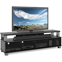 Sonax B-003-RBT Bromley 75-Inch 2 Tier TV Bench, Ravenwood Black