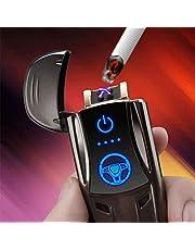 Nieuwe Creatieve Coole Sportwagen Dubbele Boogaansteker, High-end USB Oplaadbare Sigarettenaansteker Geschenken Voor Mannen