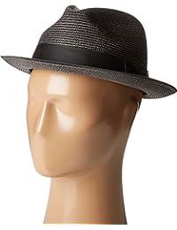 Men's Pinch Front Braid Fedora Black Hat